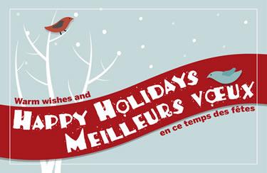 Happy Holidays - Meilleurs voeux