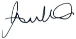 Andrew Peck Signature